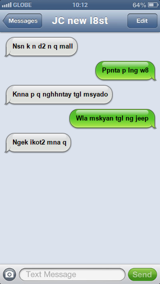 Filipino texting quirks