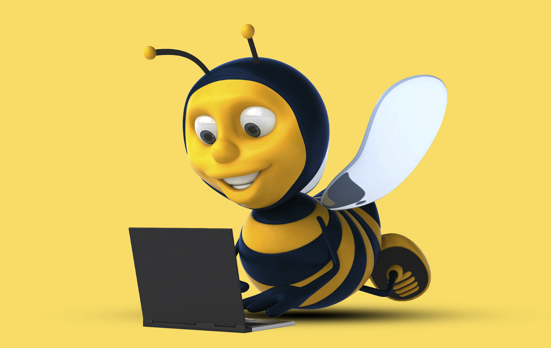 bee-with-laptop